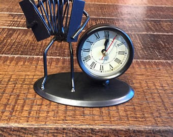 Hand made metal clock