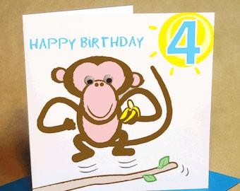Age 4 Boy Birthday Card