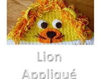 Crochet Pattern - Lion Applique (for Hooded Baby Towel and So Much More) - Immediate PDF Download