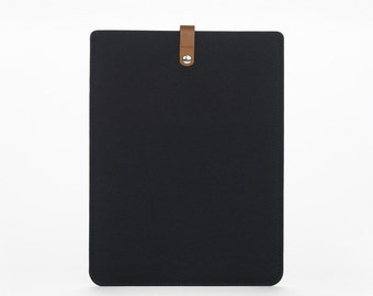 Cover MacBook Air 13 – MacBook Air Case – MacBook Cover –  Leather Sleeve MacBook - Felt and Leather Case - MacBook Air 13