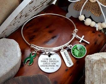 DG-1 Organ Donor Jewelry Kidney Disease Donor Jewelry Liver Cancer Awareness All Things Through Christ Birthstone Bracelet Gift For Her