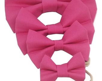 Bright Pink Bow Collection, Hair Bow, Hair Clip, Headband, Baby, Kids, Toddler, Pink
