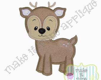 Applique Woodland Animal Fawn Deer Machine Applique Design