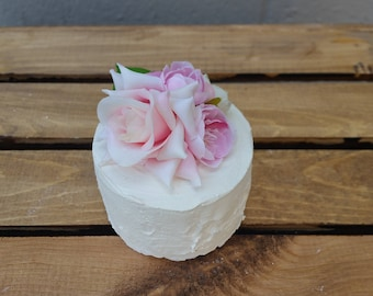 Fake Micro Cake with Fake Flower Top