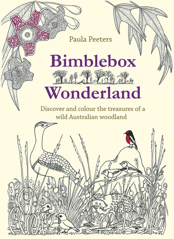 Bimblebox Wonderland Colouring Book Australian Wildlife