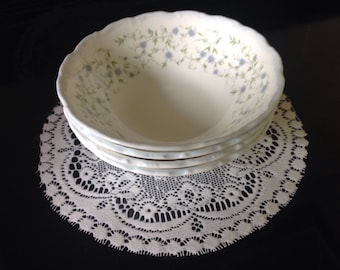 Royal Albert Caroline cereal bowls vintage china