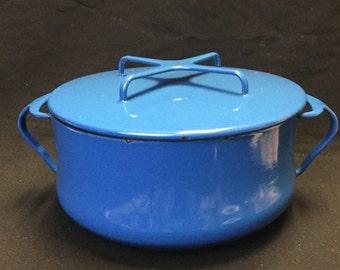 Dansk Enamel Casserole Pot, Vintage Dansk, Vintage Enamel Pot, Vintage Cookware