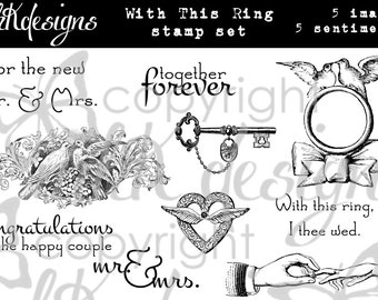 With This Ring Digital Stamp Set