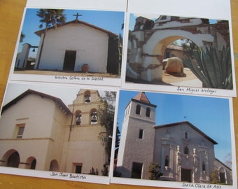 California Missions Cards Set of 4