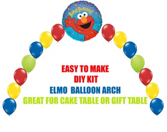 Elmo birthday balloons decorations elmo party decorations elmo birthday balloons elmo party decorations cake table gift table diy kit easy to solutioingenieria Choice Image