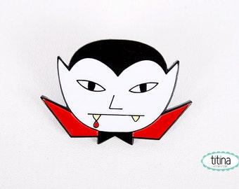 little Dracula soft enamel pin