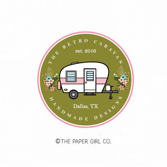 Caravan Logo Design Camper Bunting