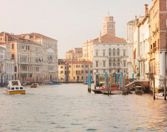 Venice Photography -  Light on The Grand Canal in Venice, Italy Travel Photograph, Fine Art Photograph, Home Decor, Large Wall Art