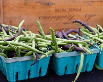Food Photography, Kitchen Prints, Cafe Wall Art, Vegetable Prints, String Bean