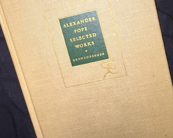 1951 Alexander Pope Selected Works