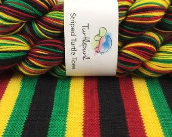 Rasta - Hand Dyed Self Striping Sock Yarn