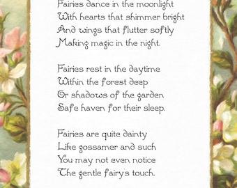 Original Fairy Poem Making Magic 8x10 Instant Download