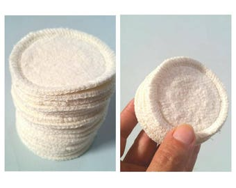 BULK. 110 hemp mini rounds reusable organic cotton fleece eye makeup removers pads wash