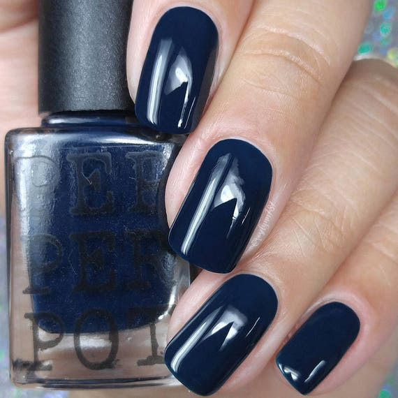 Dark Navy Blue Indie Nail Polish Shadowplay Bath And Beauty