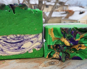 4 Leaf Clover-Handmade Artisan Goats Milk Soap- Cold Process Soap