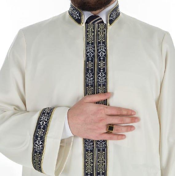 Buqhara Colated Red Plain Jubbah S, M, L Thobe, Galabiyya, Jubbah, Disdashas, Cubbe, Long Kurta, Islamic Clothing for Men, Sunnah Wear