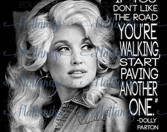 Dolly Parton quote sublimation transfer
