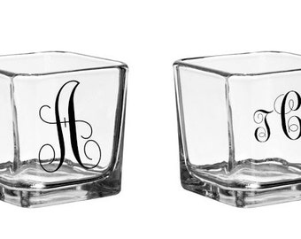 """3"""" Square Glass Candle Holder 