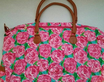 Lilly Pulitzer Inspired First Impression La Playa Weekender Tote Bag