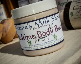 Goat Milk - Bedtime Body Butter - Body Whip - Shea Butter - Lavender - Essential Oils - Chamomile Tea