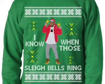 Ugly Christmas Sweater, I Know When Those Sleigh Bells Ring