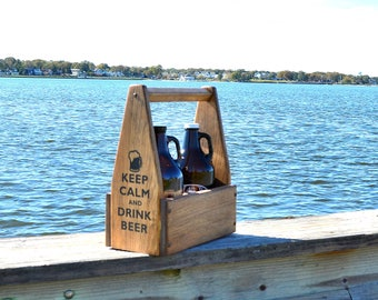 Growler Carrier Beer Growler Tote Beer Caddy Growler Holder Beer Gifts for Men Gift for Him Father's Day Gift Groomsman Craft Beer Carrier