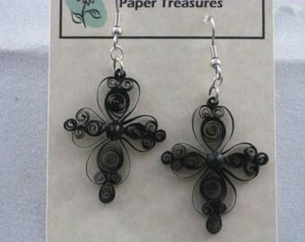 Lacy Cross Earrings
