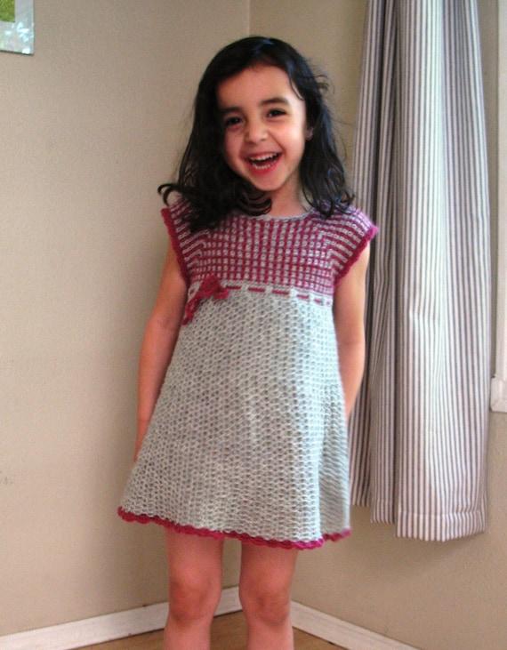 Kids Crochet Dress Pattern No. 14 from BallHanknSkein on Etsy Studio