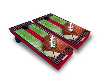 Chicago Houston Football Corn Hole Game