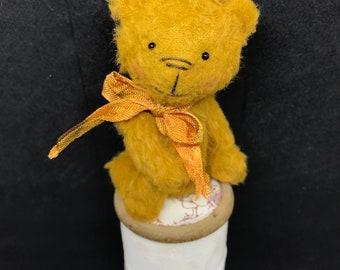 Pumpkin - One of A Kind Miniature Artist Bear (Vegan)