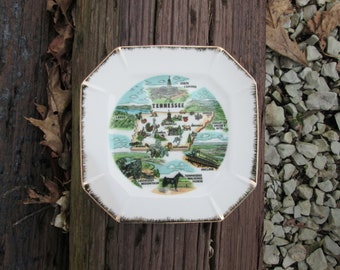Tennessee Vintage Square State Plate Vacation Souvenir Decorative
