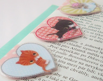 Cute Kitty Magnetic Bookmark