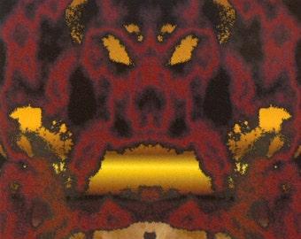 ACEO Earth Elemental digital art print rock fantasy face portrait fire limited edition nitelvr