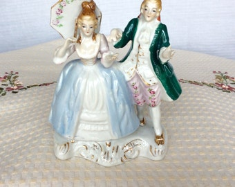 Dresden Type Figurine Courting Couple