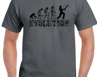 Cricket Evolution Mens Funny Cricketing T-Shirt Cricketer Test England Ashes 1759