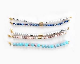 Verschiedene Gemstone Armbänder