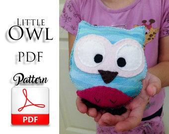 DIY Owl Toy Pdf Sewing Pattern Felt Tutorial Instant Download Children