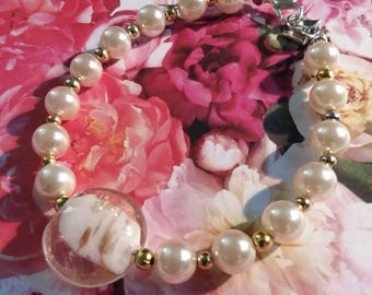 Gifts for her/Jewelry/Jewelry Bracelet/Pearl Bracelet BUTTERFLY DREAMS