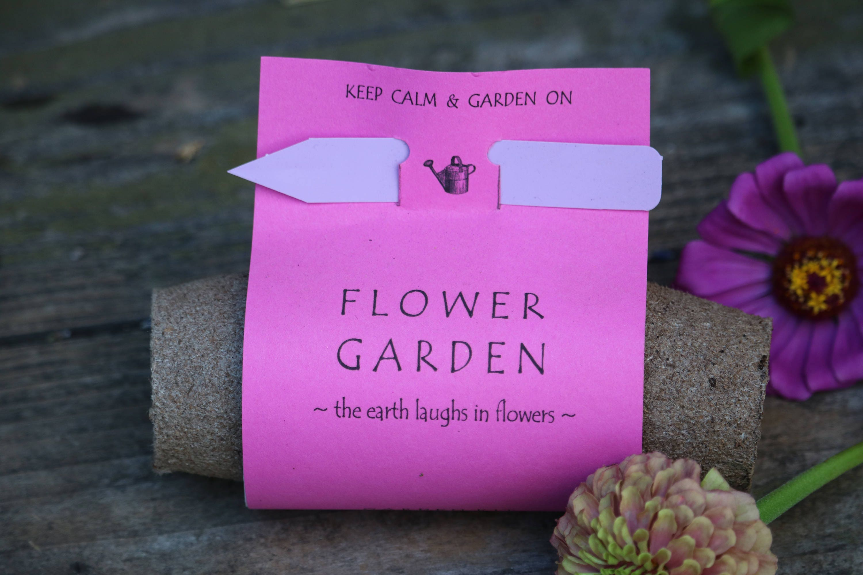 Meditation garden inspirational quote Pink flowers garden