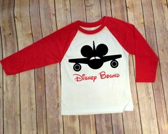 Disney Bound, Disney Bound Raglan, Disney Bound Shirt, Family Disney Shirts, Disney Family Shirts, Disney Trip Shirt, Disney Plane