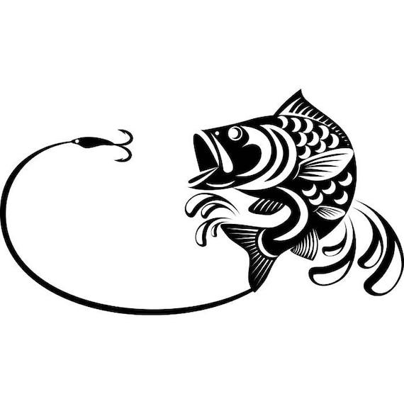 Bass fishing 3 logo angling fish hook fresh water hunting for Bass fishing logos