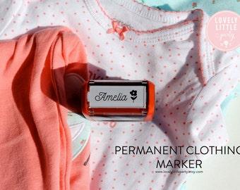 Custom Clothing Stamper, Unique Baby Shower Gift, New Nurse Gift, Uniform Stamper, Name Tag Stamper style 112 - Lovely Little Party