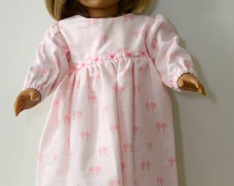 Flannel Nightie for 18 Inch Dolls