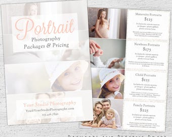 Photography Pricing Guide, Photoshop Template, Marketing, Price Sheet, Photography Pricing Template, Photographer, Price List - 01-008