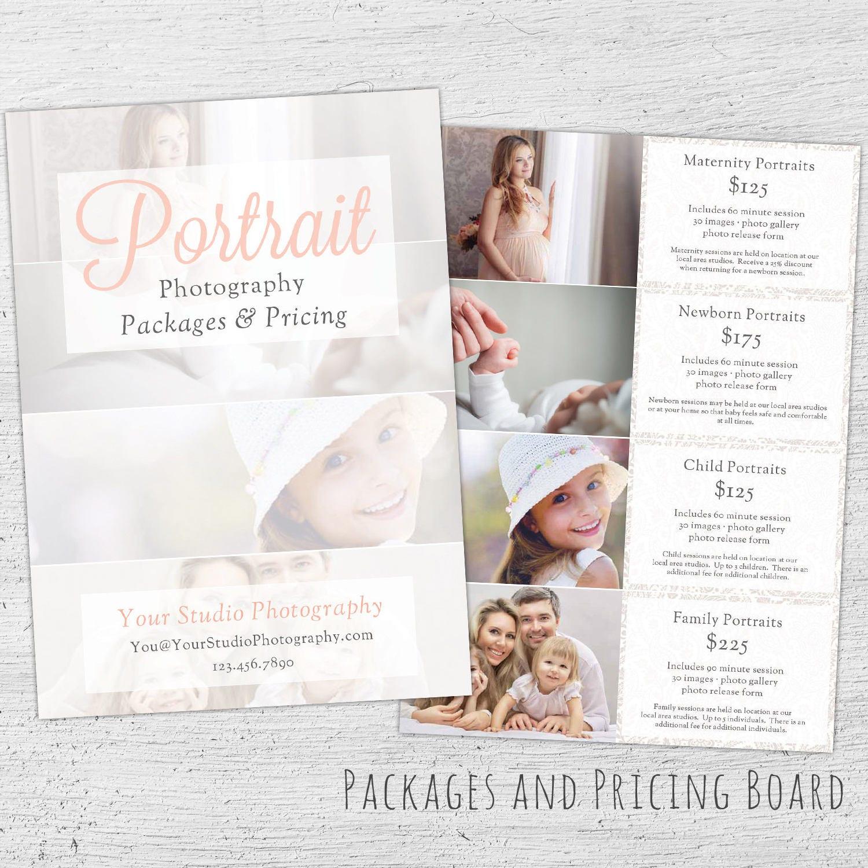 Fotografie Preise Guide Photoshop-Vorlage Marketing